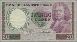 Netherlands / Niederlande: 20 Gulden 1955, P.86 Replacement Note With Serial Number 4AC 104872, Stil - Netherlands