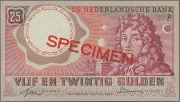 Netherlands / Niederlande: Very Nice Pair With 25 Gulden 1955 P.87 (aUNC/UNC) And 25 Gulden 1955 SPE - Paises Bajos