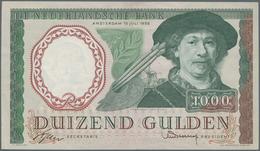Netherlands / Niederlande: De Nederlandsche Bank 1000 Gulden 1956, P.89a With Portrait Of Rembrandt - Netherlands