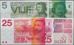 Netherlands / Niederlande: Set With 4 Banknotes Series 1966 – 1989 With 5 Gulden 1966, 5 Gulden 1973 - Netherlands