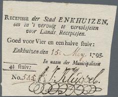 Netherlands / Niederlande: City Of Enkhuizen 4 ½ Stuiver 1795, P.B40, Excellent Original Shape, Just - Netherlands