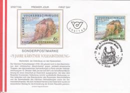 CARINTHIAN REFERENDUM, CASTLE, COVER FDC, 1995, AUSTRIA - FDC