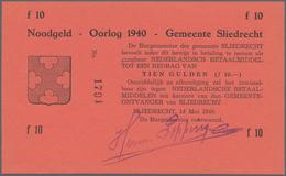 Netherlands / Niederlande: Set With 3 Pcs. Notgeld Netherlands WW II, 1 Gulden City Of GRONINGEN 194 - Netherlands