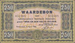 Netherlands / Niederlande: Waardebon – Ship Money 2.50 Gulden 1946 Issued Note, P.NL, Great Conditio - Netherlands