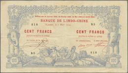 New Caledonia / Neu Kaledonien: Very Rare Condition 100 Francs 1914 P. 17 Noumea Banque De L'Indochi - Nouméa (Nuova Caledonia 1873-1985)