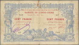 New Caledonia / Neu Kaledonien: 100 Francs 1914 Noumea Banque De L'Indochine P. 17 In Used Conditino - Nouméa (Nuova Caledonia 1873-1985)