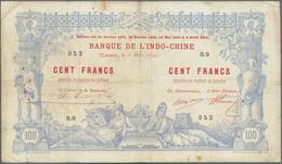 New Caledonia / Neu Kaledonien: 100 Francs 1914 Noumea Banque De L'Indochine P. 17, With Block Lette - Nouméa (Nuova Caledonia 1873-1985)