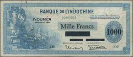 """New Caledonia / Neu Kaledonien: Banque De L'Indochine - Noumea 1000 Francs Overprint """"Émission 1944"""" - Nouméa (Nuova Caledonia 1873-1985)"""