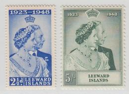 LEEWARD ISLANDS 1948 RSW  MNH  SET SG 117/118 SUPERB STAMPS - Leeward  Islands