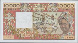 Niger: Banque Centrale Des États De L'Afrique De L'Ouest 10.000 Francs ND(1977-92) With Code Letter - Niger