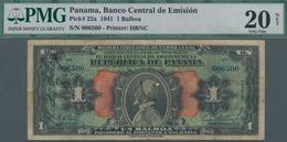 Panama: Banco Central De Emisión De La República De Panamá 1 Balboa 1941, P.22, Always A Great And P - Panama