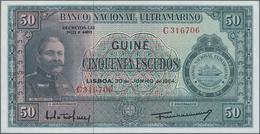 Portuguese Guinea  / Portugiesisch Guinea: Banco Nacional Ultramarino 50 Escudos 1964, P.40a In Perf - Guinea
