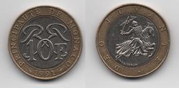 + MONACO + 10 FRANCS 1991 + TRES TRES BELLE + - 1960-2001 Nouveaux Francs