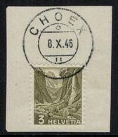 Suisse // Schweiz // Non Classée // Valais // Timbre Avec Oblitération Valaisanne Sur Fragment ( Choex) - Ohne Zuordnung