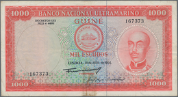 Portuguese Guinea  / Portugiesisch Guinea: Banco Nacional Ultramarino 1000 Escudos 1964, P.43a, Stil - Guinea