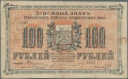 Russia / Russland: Siberia & Urals – ORENBURG 100 Rubles 1917, P.S978 In F-/F Condition. - Russie