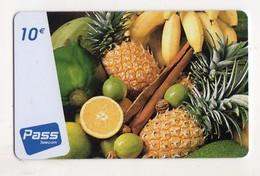 ANTILLES FRANCAISE OUTREMER TELECOM PASS 10€ Ananas Citron Banane - Antilles (French)