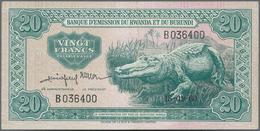 Rwanda-Burundi / Ruanda-Burundi: Banque D'Émission Du Rwanda Et Du Burundi 20 Francs September 15th - Ruanda-Urundi