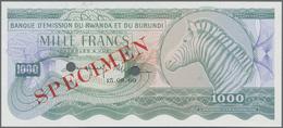 Rwanda-Burundi / Ruanda-Burundi: Banque D'Émission Du Rwanda Et Du Burundi 1000 Francs September 15t - Ruanda-Urundi