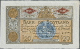Scotland / Schottland: Bank Of Scotland 20 Pounds 1956 With Signatures: Craig & Watson, P.94e, Very - [ 3] Scotland