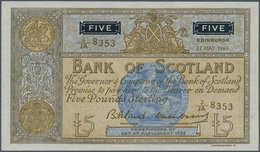 Scotland / Schottland: The Bank Of Scotland 5 Pounds May 23rd 1960, P.101b In Perfect UNC Condition. - [ 3] Scotland