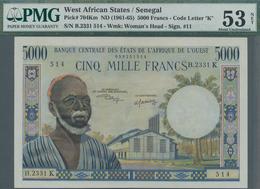 Senegal: Banque Centrale Des États De L'Afrique De L'Ouest 5000 Francs ND(1961-65) With Code Letter - Sénégal