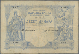 Serbia / Serbien: Chartered National Bank Of The Kingdom Of Serbia 10 Dinara 1887, P.9, Still Great - Serbia