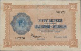 Seychelles / Seychellen: The Government Of The Seychelles 50 Rupees April 7th 1942, P.10, Still Nice - Seychellen