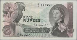 Seychelles / Seychellen: Government Of Seychelles 5 Rupees 1968, P.14, Very Popular Banknote In Nice - Seychellen