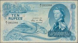 Seychelles / Seychellen: Government Of Seychelles 10 Rupees 1974, P.15b, Still Nice With Several Fol - Seychellen