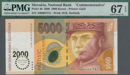 Slovakia / Slovakei: National Bank Of Slovakia 5000 Korun 2000 Millennium Issue, P.40 With Very Low - Slowakei