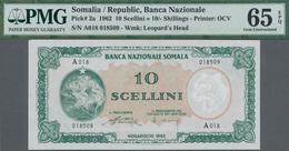 Somalia: Banca Nazionale Somala 10 Scellini = 10 Somali Shillings 1962, P.2, Perfect Condition And P - Somalia