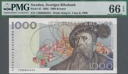 Sweden / Schweden: Sveriges Riksbank 1000 Kronor 2005, P.67, Excellent Condition And PMG Graded 66 G - Suecia