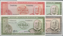 Tonga: Government Of Tonga Set With 4 Banknotes Comprising ½ Pa'anga 1977 P.18 (XF), 2x 1 Pa'anga 19 - Tonga
