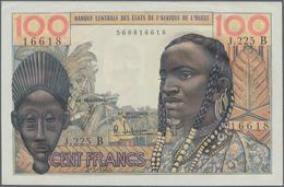 """West African States / West-Afrikanische Staaten: 100 Francs 1965, Letter """"B"""" = BENIN, P.201Be, Almos - Westafrikanischer Staaten"""
