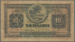 "Western Samoa / West-Samoa: Territory Of Western Samoa 10 Shillings ND With Signature Title Left: ""M - Samoa"