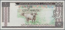 Zaire: Banque Central Du Congo – Zaire Uniface Unadopted Design Essay For 1 Zaire = 100 Makuta, ND, - Zaire