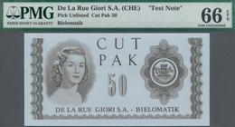 Testbanknoten: Pair With 2 Test Notes De La Rue Giori S.A. – Bielomatic CUT PAK 50, Both In Perfect - Specimen