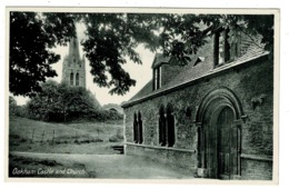 Ref 1358 - Early Postcard - Oakham Castle & Church - Rutland - Rutland