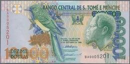 Saint Thomas & Prince / Sao Tome E Principe: Nice Lot With 4 Bundles With 100 Banknotes Each Of The - Sao Tome And Principe