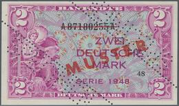 Deutschland - Bank Deutscher Länder + Bundesrepublik Deutschland: 2 DM 1948 MUSTER Mit Zweifacher Pe - [ 7] 1949-… : RFA - Rep. Fed. De Alemania