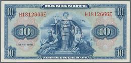 """Deutschland - Bank Deutscher Länder + Bundesrepublik Deutschland: 10 DM 1948 Mit Stempel """"B"""" Für Wes - [ 7] 1949-… : RFA - Rep. Fed. De Alemania"""