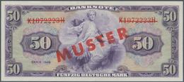 Deutschland - Bank Deutscher Länder + Bundesrepublik Deutschland: 50 DM 1948 MUSTER Mit Rotem Überdr - [ 7] 1949-… : RFA - Rep. Fed. De Alemania