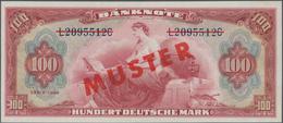 Deutschland - Bank Deutscher Länder + Bundesrepublik Deutschland: 100 DM 1948 MUSTER Mit Rotem Überd - [ 7] 1949-… : RFA - Rep. Fed. De Alemania