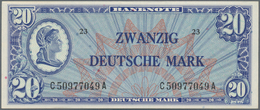 """Deutschland - Bank Deutscher Länder + Bundesrepublik Deutschland: 20 DM 1948, """"Liberty"""", Ro.246a In - [ 7] 1949-… : RFA - Rep. Fed. De Alemania"""