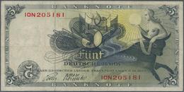 Deutschland - Bank Deutscher Länder + Bundesrepublik Deutschland: 5 DM 1948, Ro.252c Fehldruck, Teil - [ 7] 1949-… : RFA - Rep. Fed. De Alemania