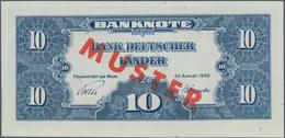 Deutschland - Bank Deutscher Länder + Bundesrepublik Deutschland: 10 DM 1949 MUSTER Mit Rotem Überdr - [ 7] 1949-… : RFA - Rep. Fed. De Alemania