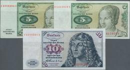 Deutschland - Bank Deutscher Länder + Bundesrepublik Deutschland: Kleines Lot Mit 3 Ersatznoten, Dab - [ 7] 1949-… : RFA - Rep. Fed. De Alemania