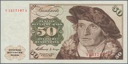 Deutschland - Bank Deutscher Länder + Bundesrepublik Deutschland: 50 DM 1960 Ersatznote Mit KN Y1217 - [ 7] 1949-… : RFA - Rep. Fed. De Alemania