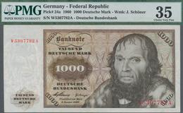 Deutschland - Bank Deutscher Länder + Bundesrepublik Deutschland: 1000 DM 1960, Ro.268a, Sehr Sauber - [ 7] 1949-… : RFA - Rep. Fed. De Alemania